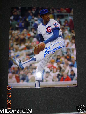 Fergie Jenkins Cubs Signed Color Photo
