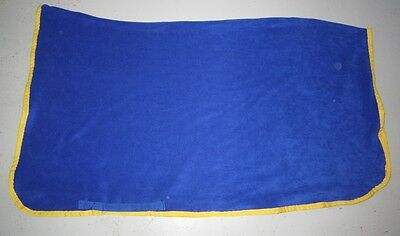 Horse Exercise or Quarter sheet FREE EMBROIDERY Choose your size & Binding BLUE