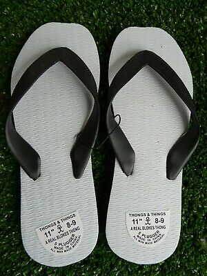 Men's Double Plugger Thongs Jandals - BLACK