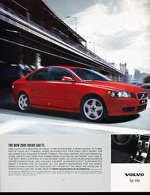 2005 Volvo S40 T5 - Red - Classic Vintage Advertisement Ad A12-B