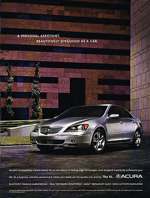 2006 Acura RL - leading edge -  Classic Vintage Advertisement Ad A16-B