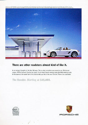 2006 Porsche Boxster - White Roadster - Classic Vintage Advertisement Ad A15-B