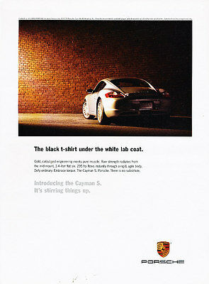 2006 Porsche Cayman S - 295hp -  Classic Vintage Advertisement Ad A16-B