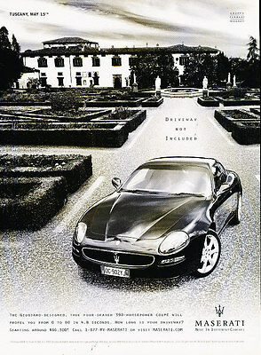 2005 Maserati Coupe Giugiaro - Tuscany -  Vintage Advertisement Ad A9-B