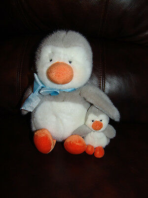 Russ Berrie and Company Iggy the Penguin and Baby Penguin