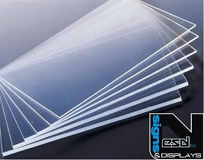 210 x 297mm A4 SIZE CLEAR ACRYLIC SHEET  2mm 3mm 4mm 5mm 6mm 10mm THICK PERSPEX