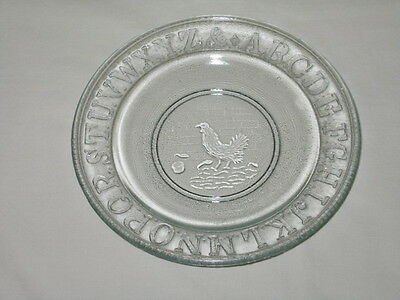 King, Sons & Co Vintage 1880's Hen & Chicks 6-inch Glass Child's Plate