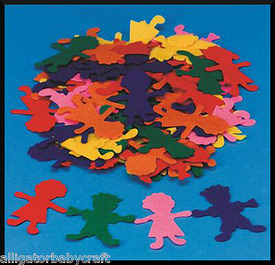 "10 Girl & Boy Felt Shapes 3"" ABCraft Storyboard Felt Board Kids Colorful Crafts"