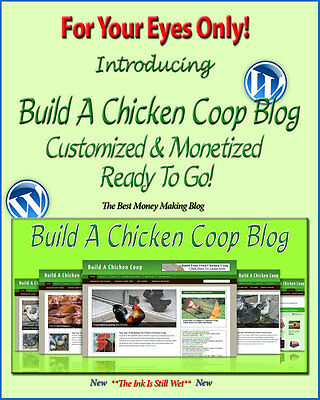 Build A Chicken Coop Blog Self Updating Website - Clickbank Amazon Adsense Pages