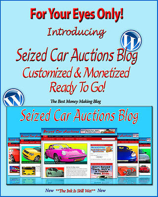 Seized Car Auctions Blog Self Updating Website - Clickbank Amazon Adsense Pages*