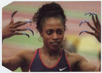 Scarce Trade Card of Gail Devers, Athletics 1997