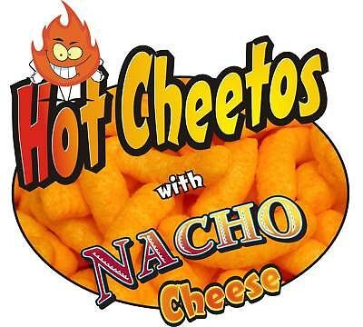 "Concession Sign Decal 7"" Cheetos with Nacho Cheese Food Truck Menu"