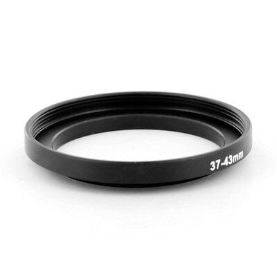 Step-up adapter ring 37-43 37mm-43mm Black Metal NEW for Camera, from US Seller!