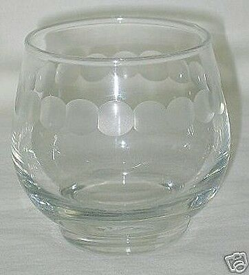 Libbey Necklace Pattern 8-oz Footed Glass-c1960s