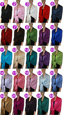 New Pashmina Scarf Shawl Wrap Cape Cashmere Silk Wool More Design & Colors 109s