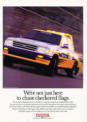 1996 Toyota T100 - Indy Race Truck - Vintage Advertisement Ad A22-B