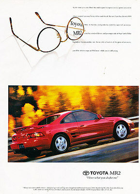 1994 Toyota Mr2 - glasses - Vintage Advertisement Ad A23-B