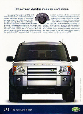 2005 Land Rover LR3 - entirely new - Vintage Advertisement Ad A30-B
