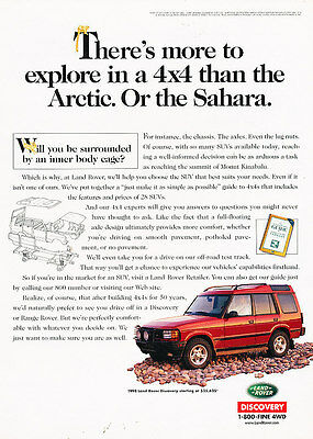 1998 Land Rover Discovery - arctic sahara - Vintage Advertisement Ad A26-B