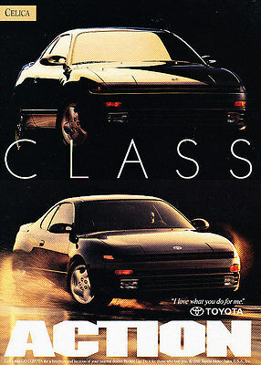 1993 Toyota Celica - class action - Vintage Advertisement Ad A27-B