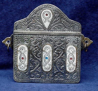 Old Moroccan Brass And Silver Koran Quran Coran Box Case