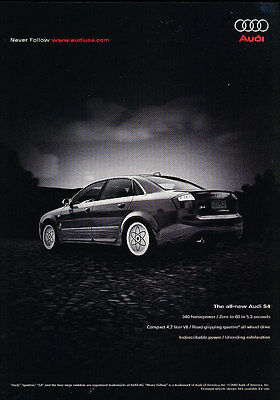2004 Audi S4 - 340hp road gripping -  Classic Advertisement Ad A38-B