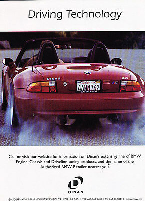 2002 Dinan BMW ISR3 Z3 - technology -  Classic Advertisement Ad A38-B