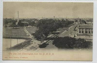 The City & Chowringhee from YMCA, Calcutta c1910