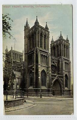 West Front, BRISTOL Cathedral 1907