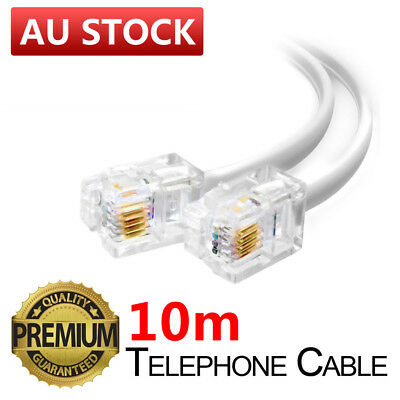 10M Telephone Phone Cord Cable Plug Extension for ADSL Filter Fax