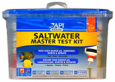 API MASTER TEST KIT SALT WATER MARINE pH AMMONIA FISH & REEF TANK AQUARIUM