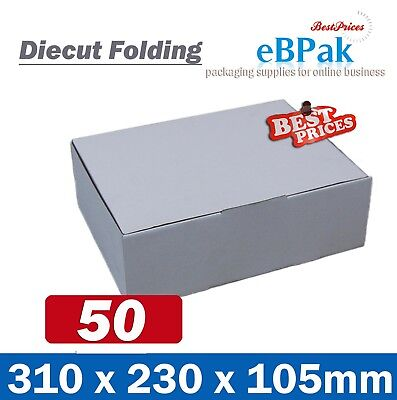 50x Mailing Box 310x220x102mm Diecut Carton 310x230x105mm A4 B2 BX2 Size