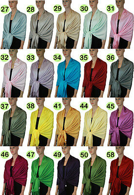 New Pashmina Scarf Shawl Wrap Cape Cashmere Silk Wool More Design & Color 111s_2