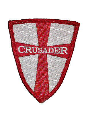 The Tactical Crusader Military Combat ARMY MORALE hook/loop PATCH