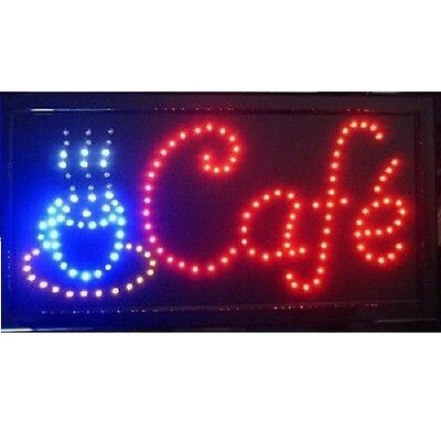 Animated Motion LED Business Cafe Club SIGN On/Off Switch Bright Open Light Neon