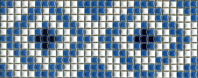 One piece of 300mm x  118mm Feature Mosaic Tile Borders - pool spa feature wall