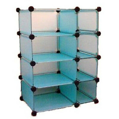 Modular Cube Storage System Blue by Edsal 8 Compartments