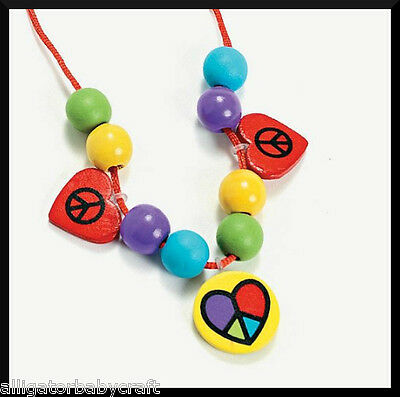 Peace And Love Heart Charm Necklace Craft Kit For Kids ABCraft Girls Jewelry