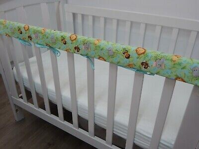1 x Baby Cot Rail Cover Crib Teething Pad - Jungle Babies!! ***REDUCED***