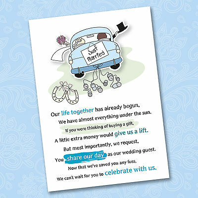 Asking For Wedding Gift Of Cash : Wedding Poem Cards For Your Invitations - Ask Politely For Money Cash ...