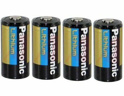 4 Panasonic CR123A Cr123 CR 123 Lithium Batteries 2027