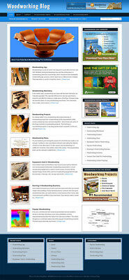Woodworking Blog Self Updating Website with Clickbank Amazon Adsense and more **