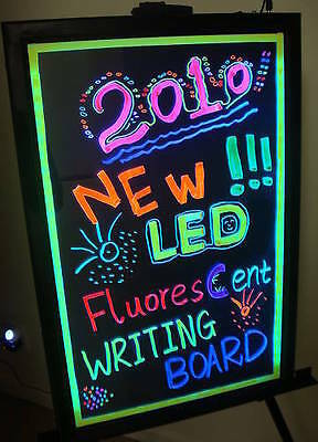 "Flashing Illuminated Erasable Neon LED Message Writing Board Menu Sign 16""x12"""