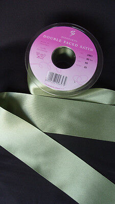 Double Faced Satin Ribbon Berisfords Khaki Colour 80 Olive Green + ODDMENTS