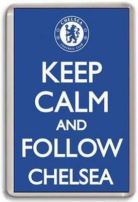 KEEP CALM AND FOLLOW CHELSEA Fridge Magnet