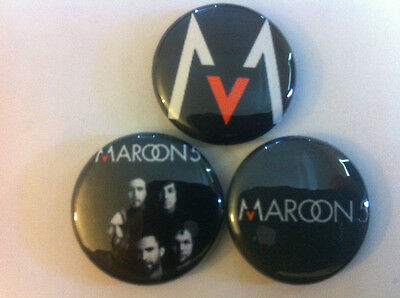 "MAROON 5 lot of 3 1"" pins pinback buttons Kara's Flowers hands all over"