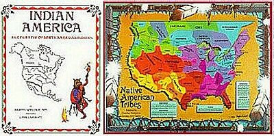 Geography-History: Native American Territory,book & Map, Books