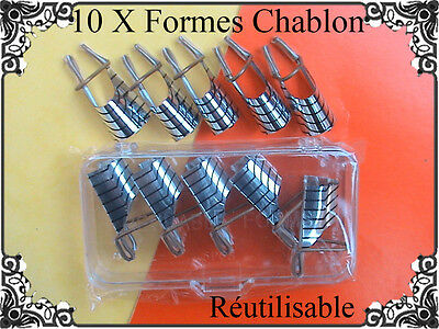 10 X Formes Chablon Construction Pochoir Reutilisable Gel Uv Nail Art Manucure