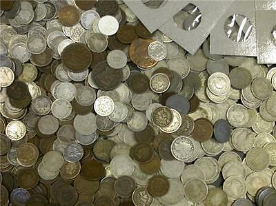 COIN PICKERS SPECIAL,  $50 LOT OF MIXED COINS 100 YEARS OLD OR OLDER