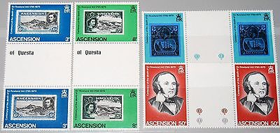 ASCENSION 1979 249-52 247-50 gutter Sir Rowland Hill Stamp on Stamp Todestag MNH